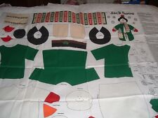 Vtg 90s Country Snowman Red Bird Decor Doll Cut Sew Stuff Fabric Panel #pb4