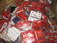 200 MIXED GIFT TAGS BELL STAR TREE CHRISTMAS WRAPPING NEW TAG PRESENT XMAS