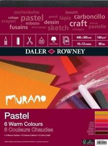 """DALER ROWNEY Pastel Pad  - Murano - 30 Sheets/160gsm - Warm Colours - 16"""" x 12"""""""