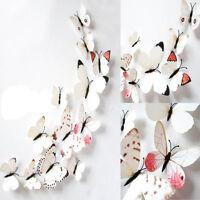 12Stk.3D Schmetterlinge Wandtattoo Wand Deko Wandaufkleber Wandsticker Neu Mode