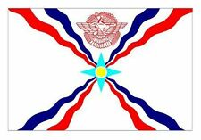 Assyrian national flag vinyl sticker decal bumper car vehicle country nation