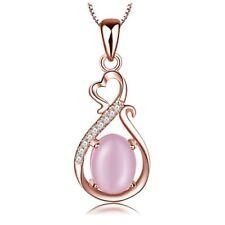 Collier pendentif goutte perle nacrée rose  swarovski® Elements doré cadeau