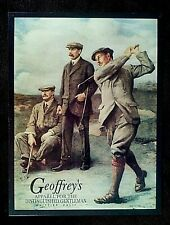 Old Time Golfers Metal Retro Tin Sign Advertising Geoffreys Fine Clothing, Decor