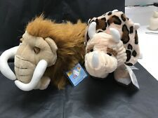 2 WEBKINZ EXTINCT ANIMALS NEW W/ SEALED CODES - WOOLY MAMMOTH & TRICERATOPS