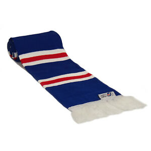 fan originals Retro Football Bar Scarf in Rangers Colours Blue White Red