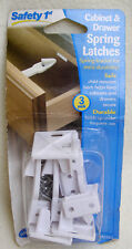Safety 1st cabinet and drawer spring latches x 3