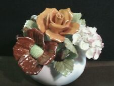 Vtg. Royal Adderley Bone China Hand Painted Floral Bouquet Fiqurine,England