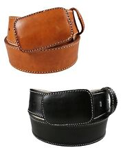 "2"" Men`s  Heavy Duty Leather Work Belt _ Hand Made Color Brown/Black"