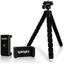 26cm Flexible Mini Stativ Foto Kamera Ständer Nikon Canon + Smartphone Halterung