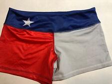 Cambro Apparel Womens Shorts Fit  Bottoms Texas Flag Medium