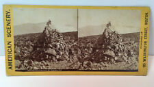 EARLY LIZZIE BOURNE MONUMENT, MT. WASHINGTON N.H. STEREOVIEW