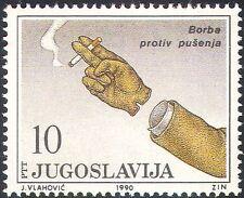 Yugoslavia 1990 campaña antitabaco/médico/salud/bienestar/mano 1v (n28954)