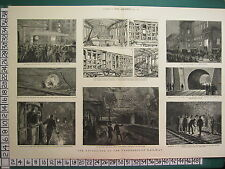 1883 GRAPHIC PRINT EXPLOSIONS ON THE UNDERGROUND RAILWAY STATIONS CHARING CROSS