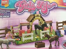 Girls Life 355 Blocks Construction Set - BlockTech.Figures.Country Stable Horses