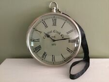 """Colonial Clock Co. Large Stop Watch Or Pocket Watch Round Wall Clock 10"""""""