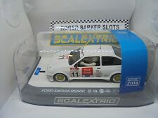 Scalextric  C3781a Hornby Preview car 2018 Ford Sierra RS500 DPR/PCs lights m/b