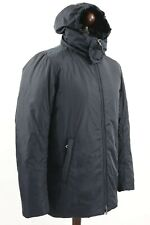 PRADA Mens Nylon Hooded Padding Jacket Parka Black Tab size 48 M Navy Art.SGA293