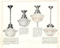 VTG 1920s GENERAL ELECTRIC COMMERCIAL LIGHTING FIXTURES BROCHURE! PICS & PRICES!