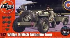 Airfix Willys Jeep Trailer & 6PDR Gun Modell-Bausatz 1:72 Normandy Belgium 1944
