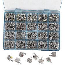 50 Sets Dental Orthodontics Monoblock Brackets Metal MINI MBT. 022 345 Hooks IT