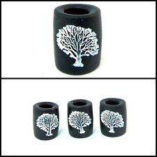 1 Árbol de la vida temible Perla hecho a mano, rastas cuentas, negro y blanco, Unisex