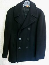 Vintage Original Usn Navy Pea Coat Size 34 Stenciled Korean War
