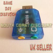 USB MICROPHONE /MIC+HEADPHONE JACK ADAPTER / CONVERTER 3.5mmTO USB DIGITAL SOUND
