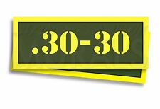 """.30-30 Ammo Can Labels for Ammunition Case 3"""" x 1"""" stickers decals 2 PACK -AG"""