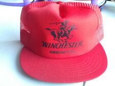 Winchester Repeating Arms Cap Hat - Red & Black Snapback - Made in USA
