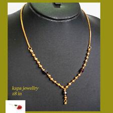 INDIAN kapa yellow gold choker chain necklace indian goldplated jewellry