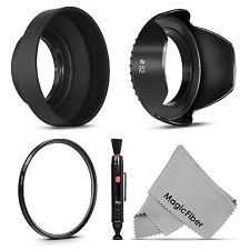 52MM UV Filter + Lens Hood + Cap for Nikon D7200 D7000 D5300 D5000 D3100 D3000