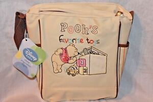 """NEW WITH TAGS  WINNIE THE POOH FAVORITE TOYS MINI DIAPER BAG 8"""" X 9"""""""