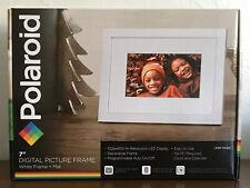 "Polaroid 7"" Digital Picture Frame White Frame PDF-700W New in Box"