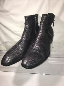 Jo Ghost leather mens Ankle boots with zipper size  46/13