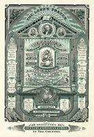 1882 Poster Lords Prayer Ten Commandments Washington Lincoln Wall Art Poster