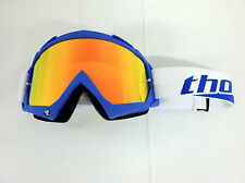 Thor Enemy Blue Adult Goggles MX ATV Clear & Fire Iridium Mirrored Lens