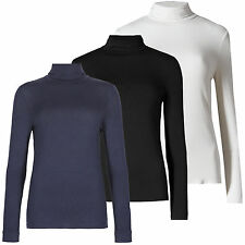 Marks & Spencer Luxury Polo Roll Neck Top With Silk New M&S Womens Long Sleeve