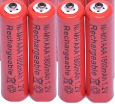 PANASONIC KX-TG RANGE TELEPHONE 4x 1.2V 1800 mAh AAA RECHARGEABLE BATTERIES RED