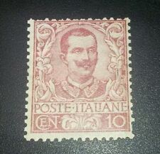 REGNO 1901 floreale 10 cent nuovo mnh cat. 500 euro