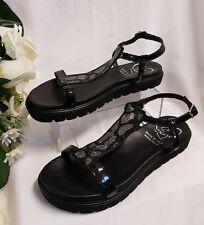 Calzado de Mujer Niñas Sandalias 40 Talla Hecho Italy Real Cuero Verano Charol