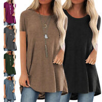 Women Baggy Oversized Loose Short Sleeve Ladies Crew Neck Top T-shirt Blouse Tee