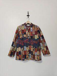 Sandy Starkman Tapestry Patchwork Jacket Lined Multicolor Size Medium