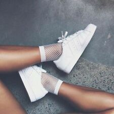 2017 Women's Lady Ankle High Socks Lace Fishnet Mesh Fish Net Short Socks NEW