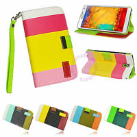 Hybrid Leather Wallet Case Flip Cover For SAMSUNG GALAXY NOTE 3 III N9000 N9005