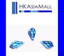 6 Swarovski Crystal Beads Teardrops 6000 11mm SAPPHIRE