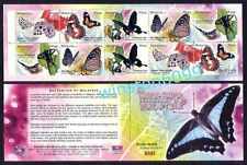2008 Malaysia Butterflies 10v Stamps Booklet Mint NH