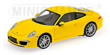 MINICHAMPS 2011 PORSCHE 911 CARRERA S COUPE (991) Yellow 1:18 LE 504pcs Last One