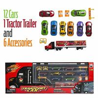 Big-Daddy Large Tractor Trailer Car Collection Case Carrier Transport Toy Truck