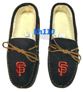 MLB San Francisco Giants Men's Colored Moccasin Hard Slippers-New