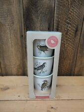 Wild & Wolf The Thoughtful Gardener Enamel Herb Plant Pots Bird Design P3